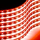 red automotive led light strips - Zone Tech 30cm Flexible Waterproof Red Light Strips – 8-Pack LED Car Flexible Waterproof Red Light Strips