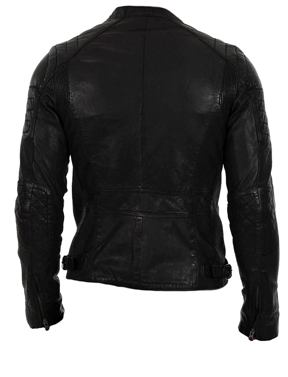 SleekHides Mens Fashion Real Leather Biker Jacket at Amazon Mens Clothing store: