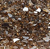 "Copper Metallic ""Fire Glass"" – 1/4 Inch Reflective FireGlass – 10 Pounds – Designed for Fire Pits and Fireplaces Review"