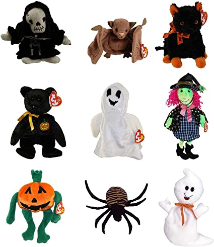 Ty Beanie 2020 Halloween Babies Amazon.com: Ty Beanie Babies   Halloween (Set of 9)(Sheets, Batty