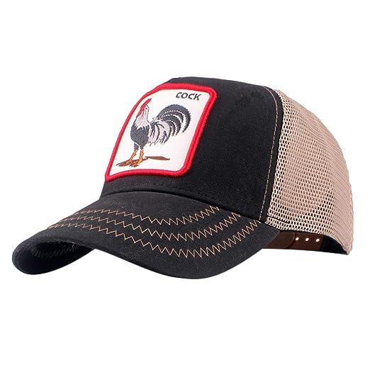 49ae6e1f25cfd Amazon.com  BCDshop Baseball Cap Back Mesh Cock Print Men Women Sun Caps  Fishing Hat (Beige)  Clothing