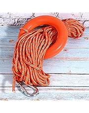 6MM Diameter 30M PVC Reflective Lifesaving Rope with Hook Pull Rings Lifesaving Equipment