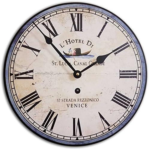 """J. Thomas Italian Hotel Wall Clock 24"""""""