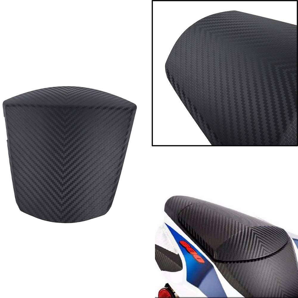 XX eCommerce Motorcycle Motorbike Motorcycle Carbon Pattern Rear Solo Passenger Seat Cowl Cover (Blue)