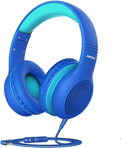 Mpow CH6 New Version Kids Headphones Over-Ear On-Ear, HD Sound Sharing Function Headphones for Children Boys Girls, Volume Limited Safe Foldable Headset w Mic for School PC Cellphone