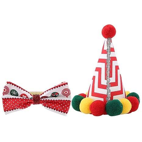 Pssopp Moda de Navidad para Mascotas Sombreros Gorros ...