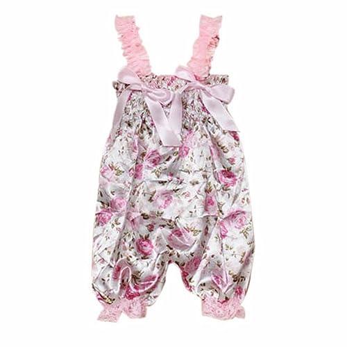 CHIC*MALL Newborn Infant Baby Girl Petti Ruffle Rompers Dress One-Piece Tutu Lace