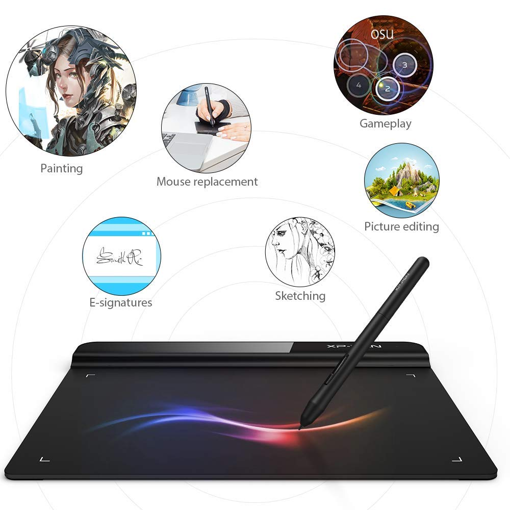 XP-Pen StarG640 6x4 Inch OSU! Ultrathin Tablet Drawing Tablet Digital  Graphics Tablet Battery-Free Stylus(8192 Levels Pressure)