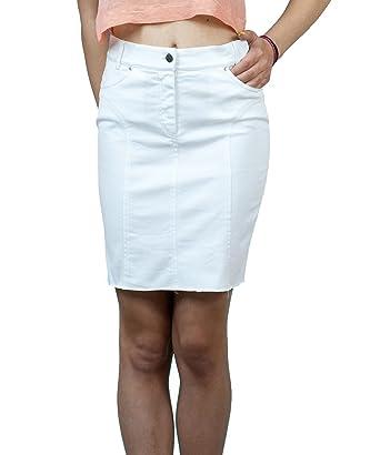 Souvenir-Fashion - Falda - Lápiz - para Mujer Blanco Blanco 42 ...