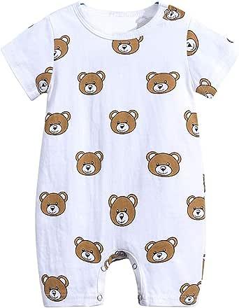 PAUBOLI Baby One Piece Pajamas Organic Cotton Long Sleeve Romper 0-24 Months