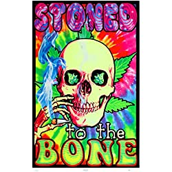 Stoned To The Bone Blacklight Poster 23 x 35in