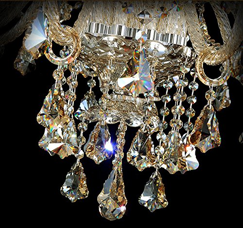 Generic Island Lights Crystals Chandelier 15 Lights Ceiling Fixtures Color Cognac by Unknown (Image #4)