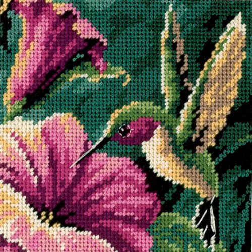 Dimensions Needlecrafts Needlepoint, Hummingbird Drama Dimensions Needlepoint Kits