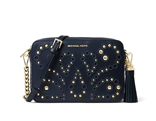 f7ab6aae3802 MICHAEL by Michael Kors Ginny Admiral Leather Studded Crossbody Bag one  size Admiral: Amazon.co.uk: Shoes & Bags