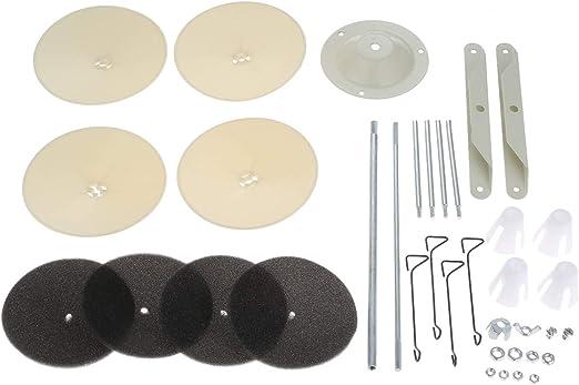 Hicello D4 - Soporte para máquina de Coser Industrial (4 bobinas ...