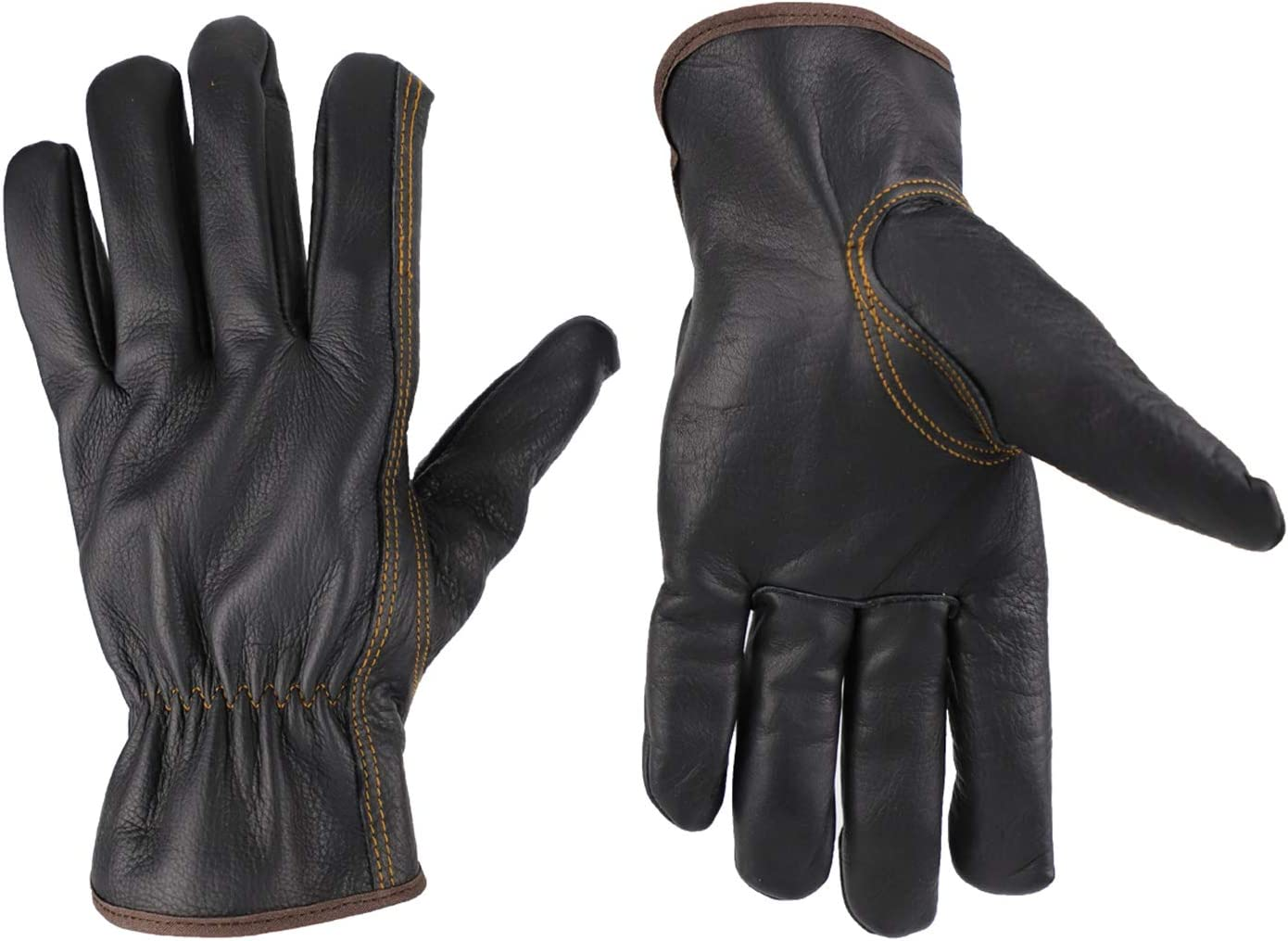 KIM YUAN Winter Warm Work Gloves 3M Thinsulate Lining Perfect for Gardening/Cutting/Construction/Motorcycle, Men & Women (M)