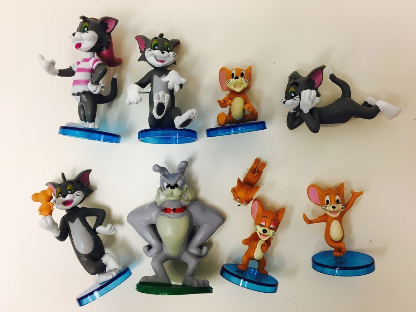 Amazon.com: 9pcs Set Tom y Jerry Mini Figures Cartoon Kids ...