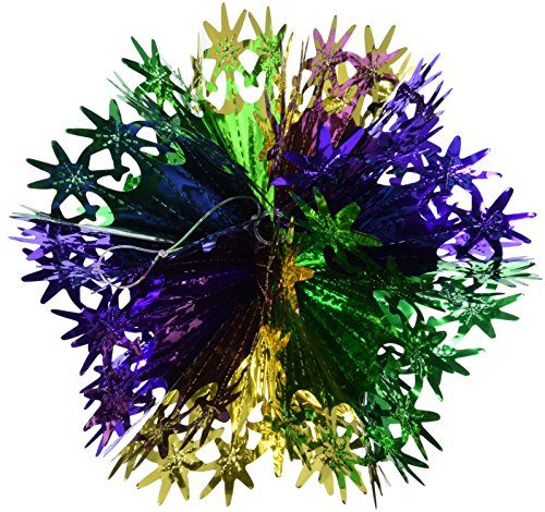 Star Ball (gold, green, purple) Party Accessory  (1 count) (1/Pkg) ()
