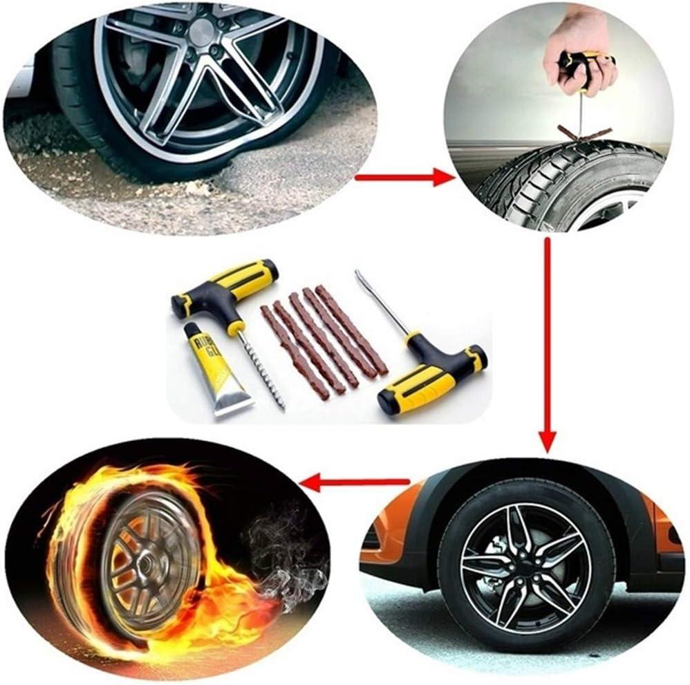 WE-WIN kit de r/éparation de Pneu de Voiture//Moto Plug Plug tubeless de r/éparation de Pneu crevaison Accessoires de Voiture//Moto