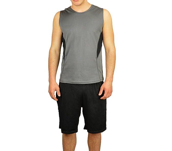 M Y Accesorios L Conjunto Pantalon Corto Gris Hombre Para Tirantes Camiseta es Negro Amazon tecnicolor Mod Deportivo Ropa ngxU0fg7qH