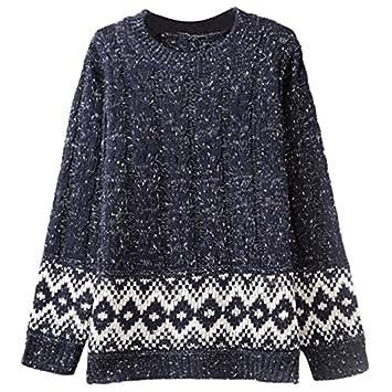 rupum (TM) nuevo diseño maternidad suéteres Argyle patrón manga larga Casual Cálido De Punto