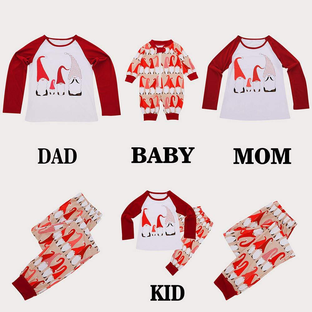 Family Pajamas Matching Set Women Mom Kids Baby Santa Claus Tops Blouse Pants Family Pajamas Sleepwear Set Fatchot Family Pyjamas Christmas