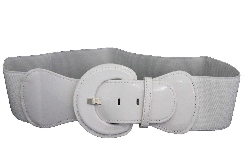 TFJ Women Elastic Fashion Belt Hip High Waist Wide Winter White Plus Size M L XL