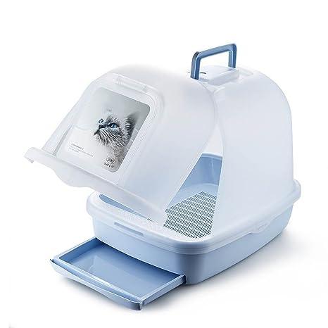 Bandeja para Gatos, WC para Gatos, Doble Capa, A Prueba De Salpicaduras,