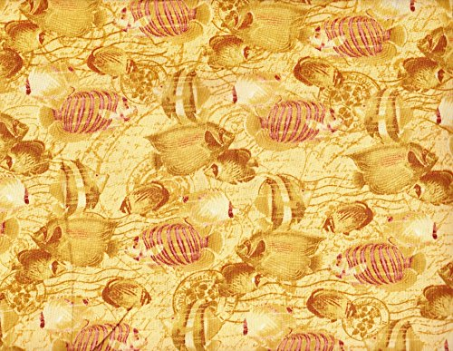 1 Yard Tropical Travelogue from Wilmington Prints Cotton Quilt Fabric 85541 123W Under the Sea (One Yard Quilt Fabric)