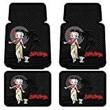 4pc Betty Boop Aloha Floor Mat Set