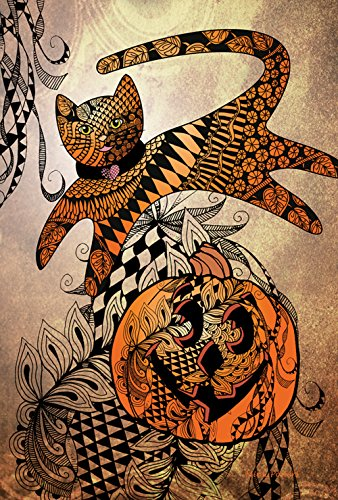 Toland Home Garden Jumping Cat Tangle 28 x 40 Inch Decora...