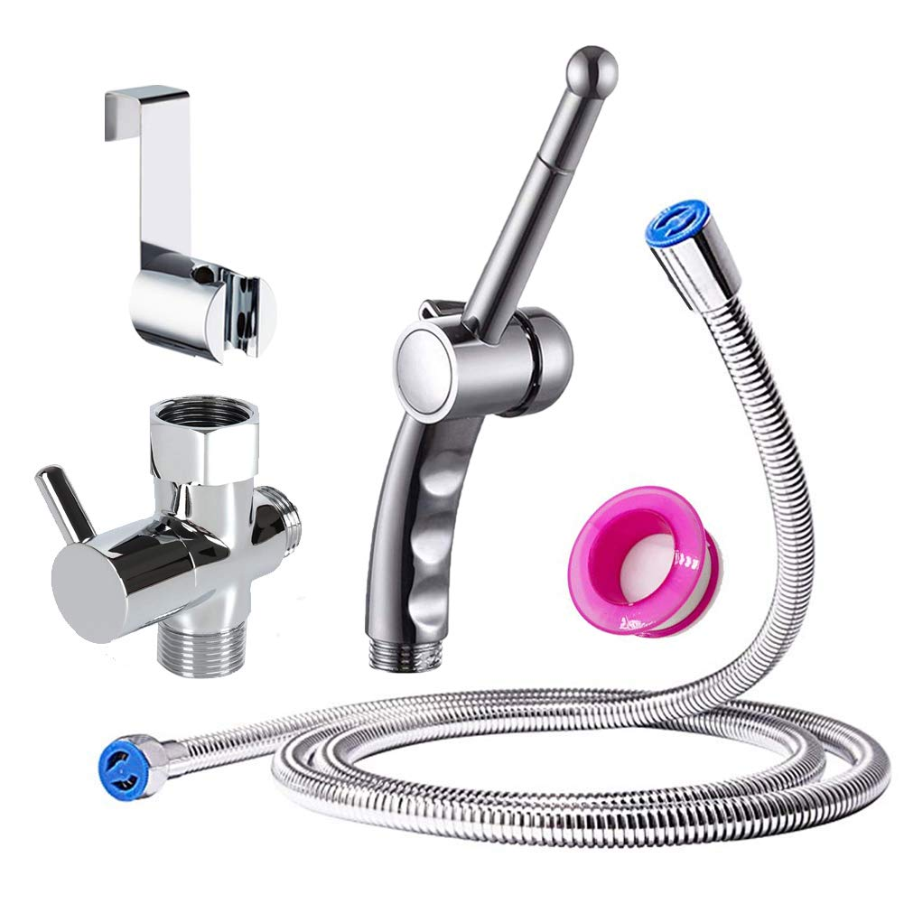 Bathroom Handheld 59inch Shower Hose with Enema Showerhead Cleaning Kit Colonic Douche System Cleaner