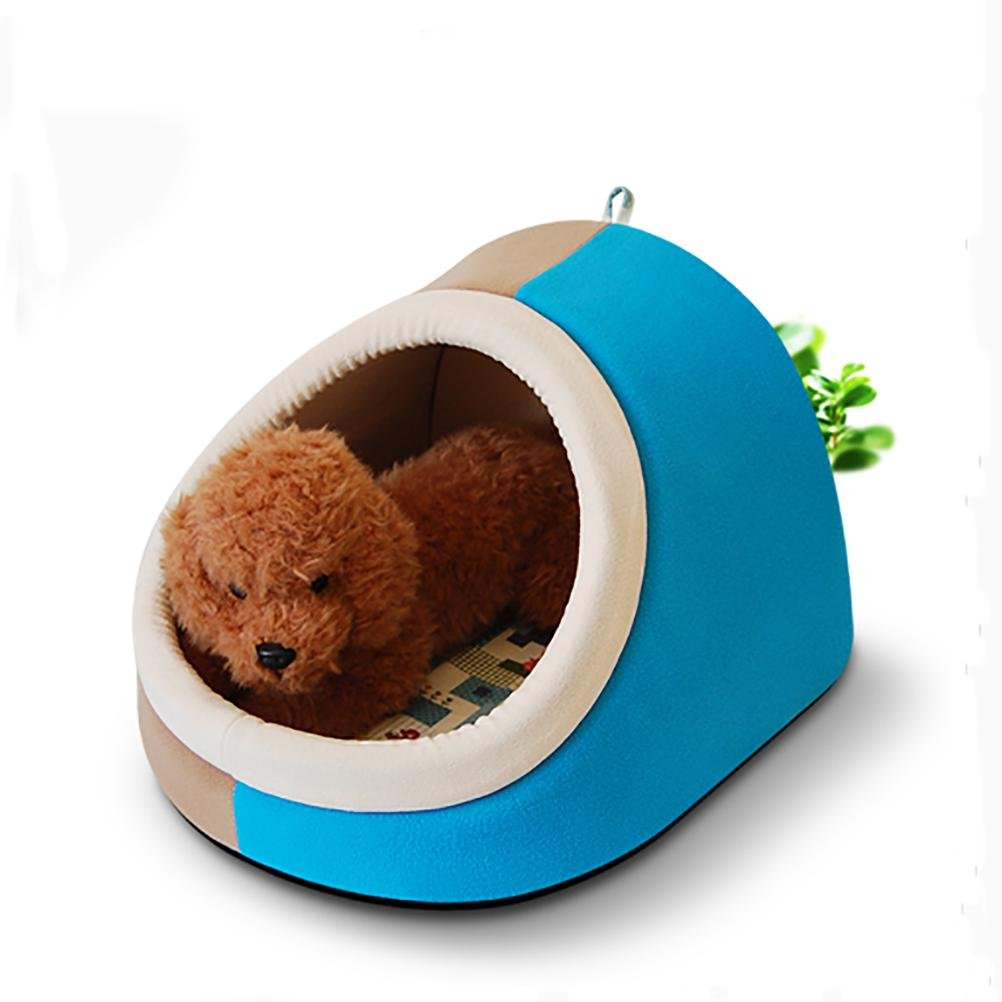 bluee L bluee L DIAMO Cute Soft Sponge Pet Cat Dog House Bed Warm Cushion Basket