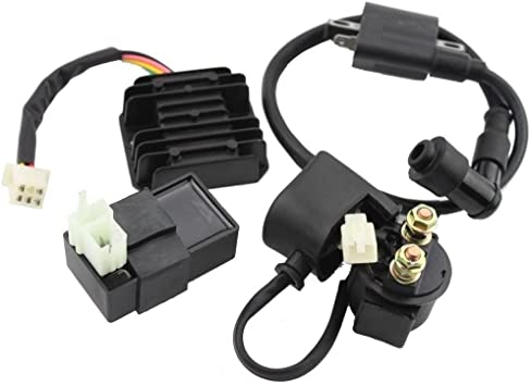 Replacement ATV Ignition Coil CDI Regulator Rectifier Relay for 50-125cc Taotao
