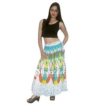 73a9542b8 Falda larga de Boho Rapron, falda étnica de la mandala, impresión ...