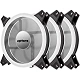 upHere White Computer Case Fan 120mm LED Silent Fan for Computer Cases, CPU Coolers, and Radiators Ultra Quiet, Premium…