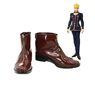 JOJO'S BIZARRE ADVENTURE Giorno Giovanna Cosplay Shoes Brown Boots Custom Made