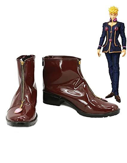 JOJOS BIZARRE ADVENTURE Giorno Giovanna Cosplay Shoes Brown Boots Custom Made