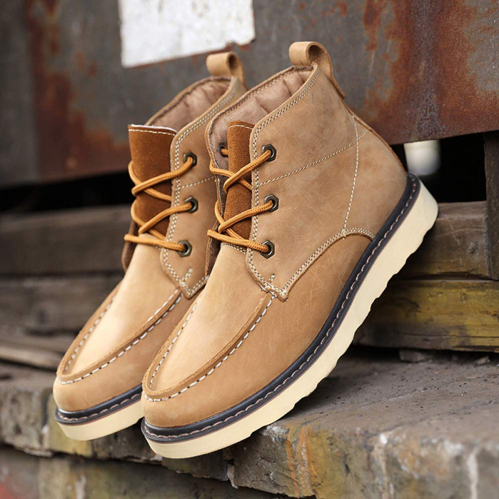 WDYY Zapatos De De De Hombre De Cuero Inglaterra Martin Botas Botas De Herramientas Retro 2bf935
