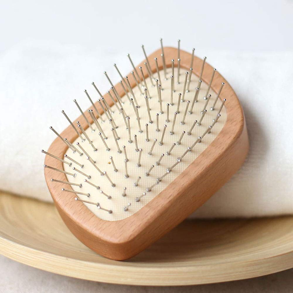 Suinzxy Wooden Comb Massage Comb Airbag Cushion Anti-static Hair Comb Anti-hair Loss Style Comb Comb Head Massage Cushion Comb by Suinzxy