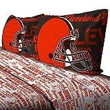 Northwest NFL Cleveland Browns Bed Sheet Set Football Team Anthem Bedding Accessories