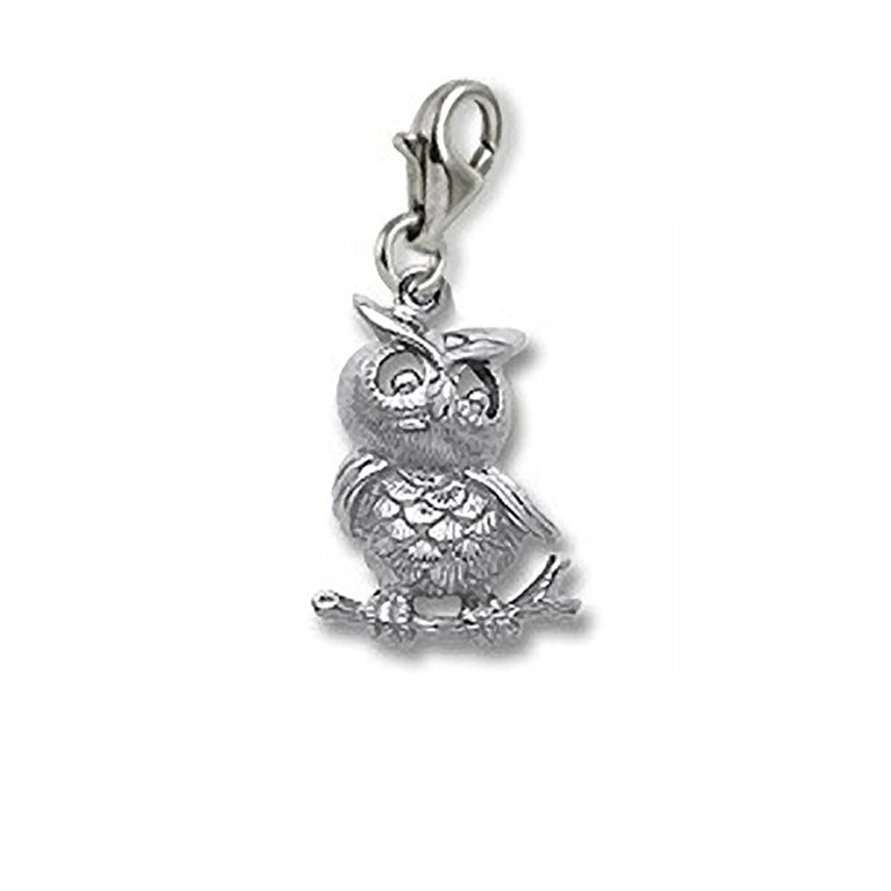 Owl Charm With Lobster Claw Clasp Charms for Bracelets and Necklaces