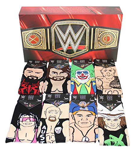 Odd Sox Limited Edition WWE Legends Gift Box Set 360 Knit Crew Sock (8-Pair) by Odd Sox (Image #5)