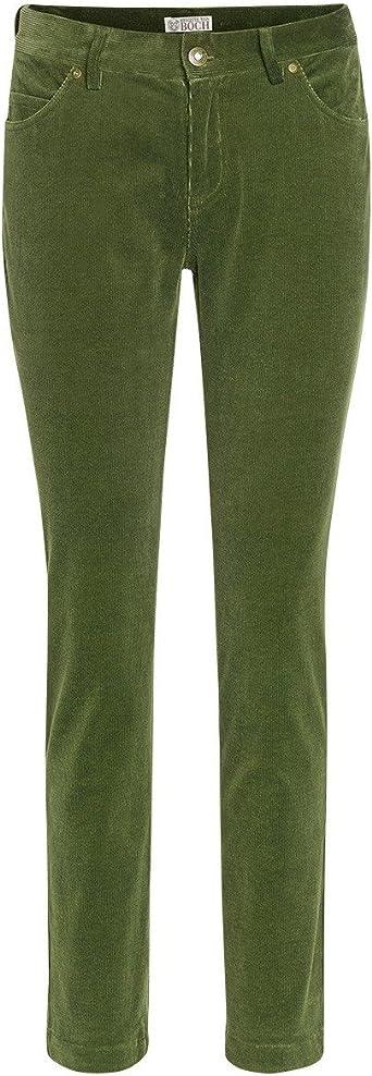 Brigitte Von Boch Mujer Consett Pantalones 7 8 De Pana Verde Musgo Amazon Es Ropa Y Accesorios