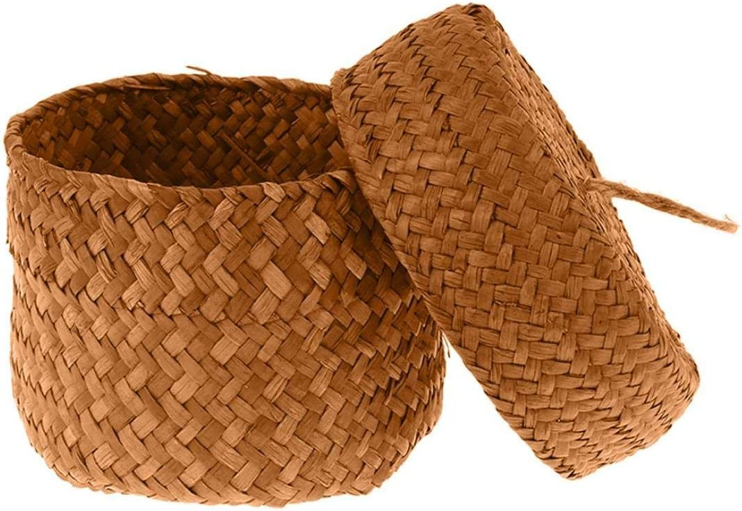 Handgemaakte Straw Storage Basket