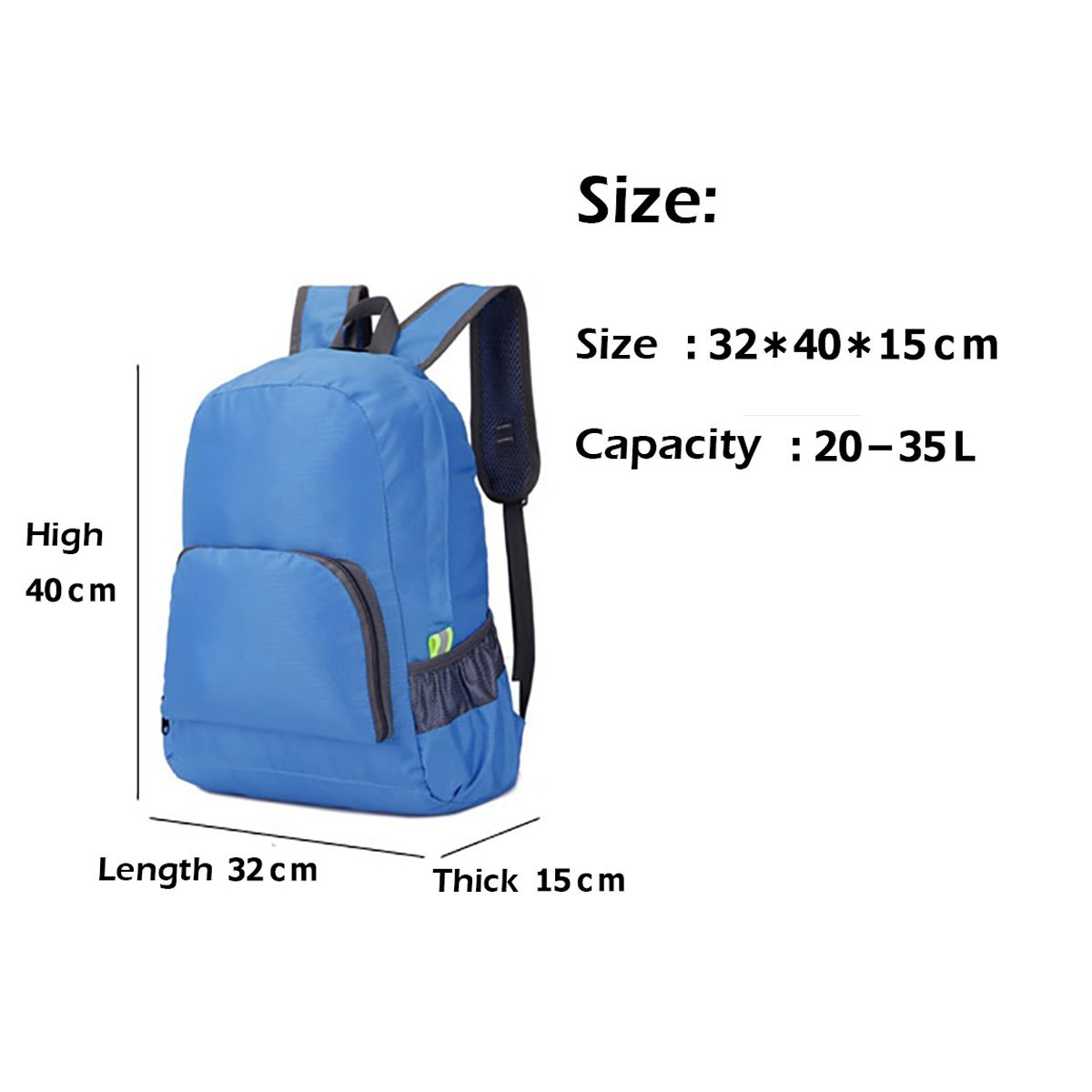 Facecozy Outdoor Sports Backpack 40L Nylon Waterproof Bag Folding Portable Backpack for Camping Hiking Climbing