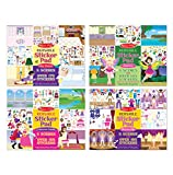 Melissa & Doug Reusable Sticker Pads Set: Fairies, Princess Castle, Play House, Dress-Up - 680+ Stickers