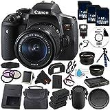 6Ave Canon EOS Rebel T6i DSLR Camera with EF-S 18-55mm f/3.5-5.6 IS STM Lens 0591C003 - Premium Bundle- International Version (No Warranty)