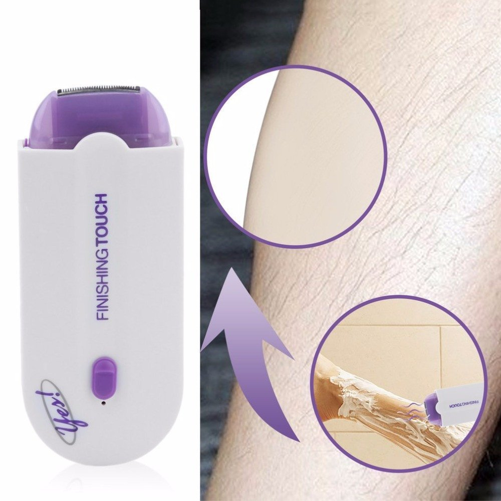 NEW Hair Removal Tools Razor Epilator Rechargeable Finishing Touch Hair Remover Instant Pain Free Laser Sensor Light Safely Cream.