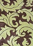 Jaipur Rugs Inc Hand Tufted Aloha, Java/Oasis Green, 8 by 11 Feet
